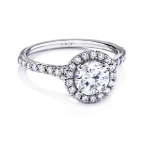 Hearts on Fire Transcend Single Halo Engagement Ring