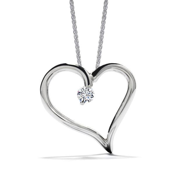 Amorous Heart Pendant Necklace