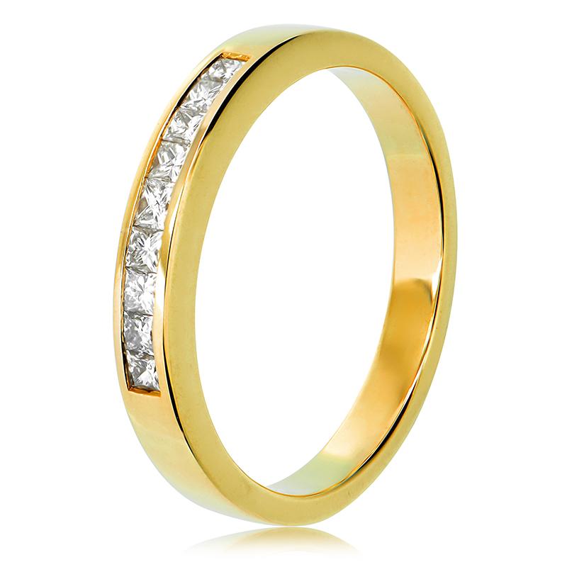 18ct Yellow Gold Diamond Wedding Ring