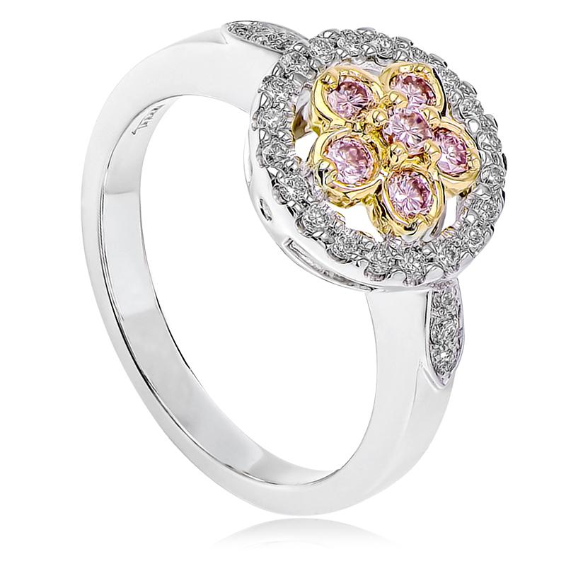 18ct Rose Amp White Gold Australian Pink Diamond Ring