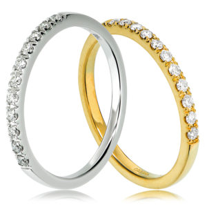 Claw set wedding ring