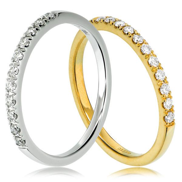 Claw set wedding ring