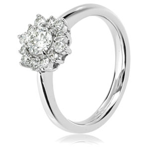 Flower Cluster Engagement Ring