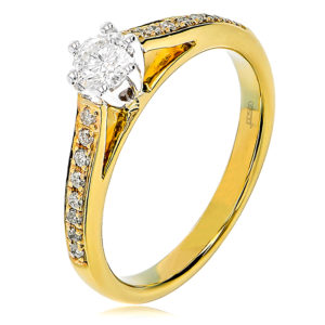 Elegant Round Brilliant Cut Diamond Engagement Ring