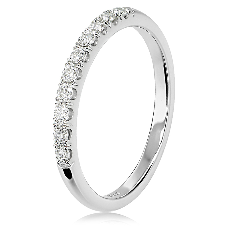 18ct White Gold Claw Set Diamond Ring Anthonys Fine Jewellery