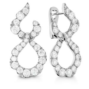 Lorelei Crescent Diamond Drop Earrings