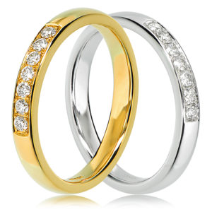 Bead Set Wedding Ring