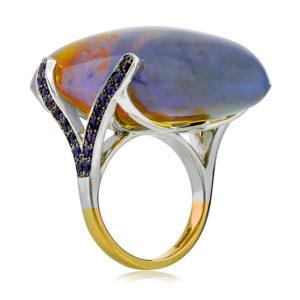Black Jelly Opal Ring