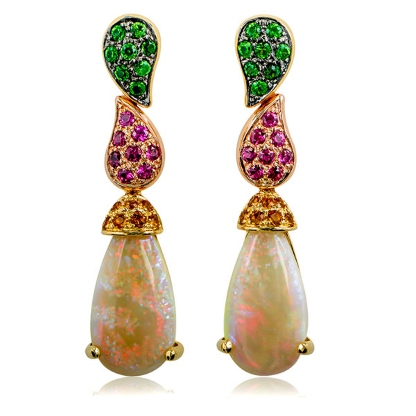 Australian Opal Drop Earrings