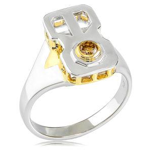 Cognac Diamond Gents Ring