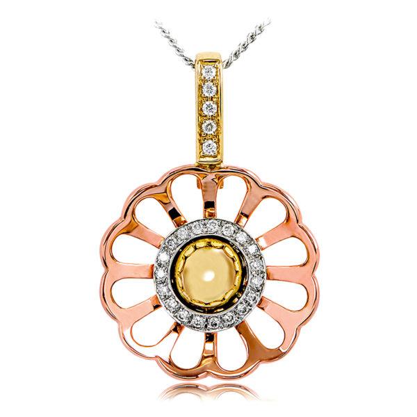 Wildflower Diamond Pendant