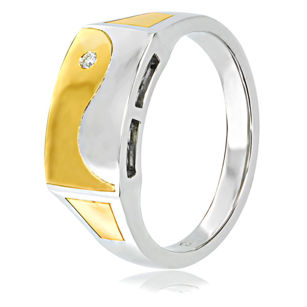 Two-Tone Gents Ring