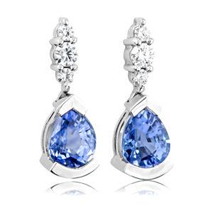 Ceylonese Sapphire Earrings