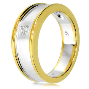 Yellow & White Gold Men's Ring