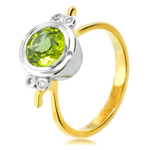 Green Peridot Ring