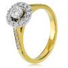 Round Brilliant Cut Halo Engagment Ring