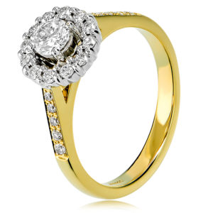Round Brilliant Cut Halo Engagment Ring