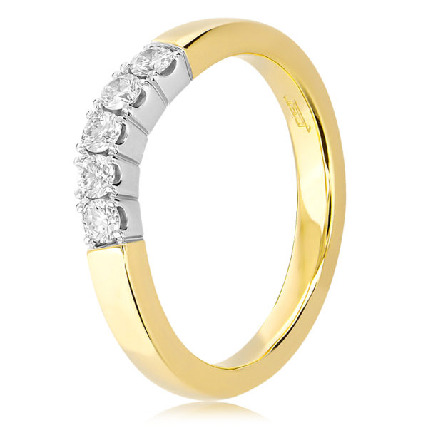 Diamond Curved Wedding Ring