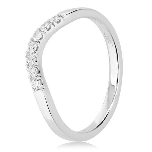 Diamond Curved Wedding Ring