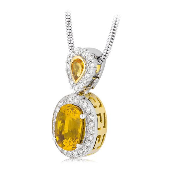 Golden Sapphire Pendant
