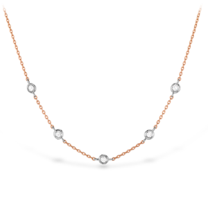 Signature Off-Set Five Bezel Necklace