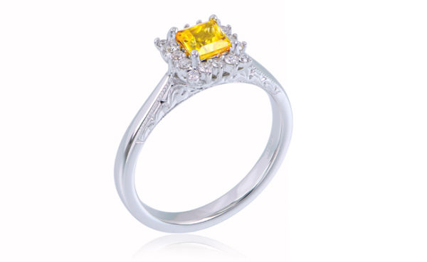Love in Colour Princess Cut Ring