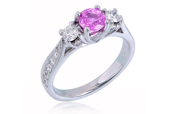 Trilogy Ring Pink