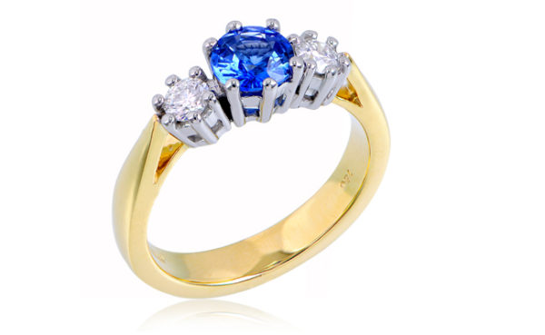 Love in Colour 3-Stone Engagement Ring