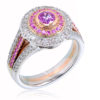 Love in Colour Double Halo Engagement Ring